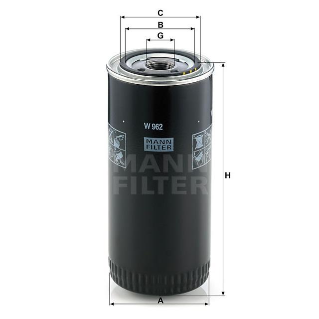 Фильтр масляный W 962