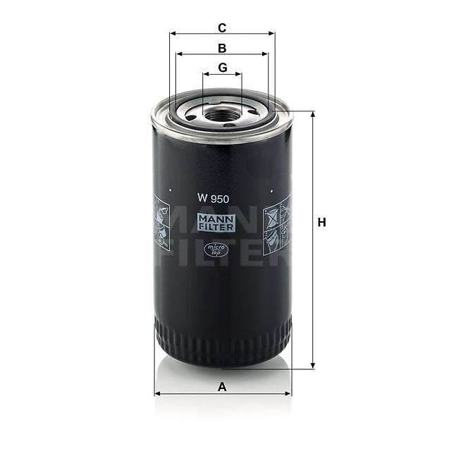 Фильтр масляный W 950