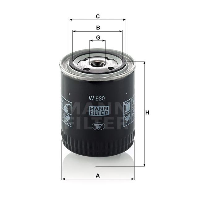 Фильтр масляный W 930